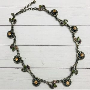 Chico's floral gemstone necklace